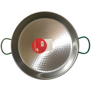 PLAT À PAËLLA Plat à paëlla en acier poli - D: 72 cm