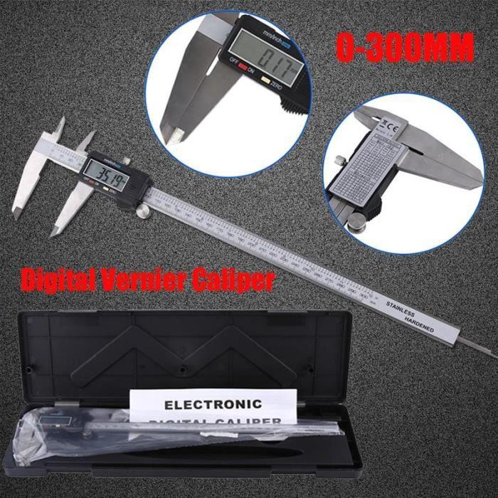 Pied à Coulisse Numérique 300mm, Pied à Coulisse Digital Ecran LCD Mesure Dimensionnelle Outil Micromètre pour Mesure Intérieur