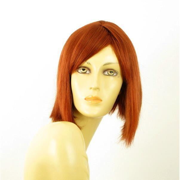 perruque cheveux naturel carré roux MYLENE 130