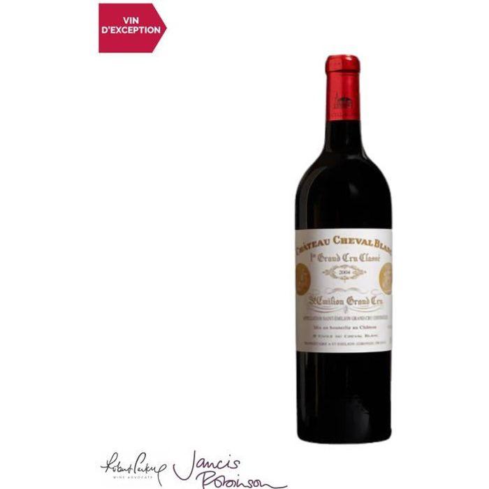 Château Cheval Blanc Saint-Emilion 1er Grand Cru Classé A Rouge 2004 - 75cl - Vin AOC Rouge de Bordeaux - 19-20 Jancis Robinson - Cé