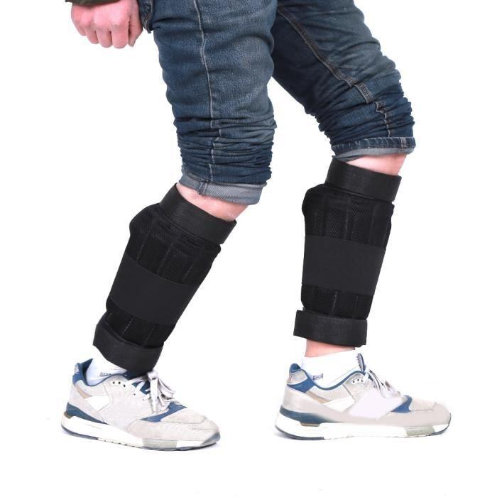 2 pièces 6kg réglable cheville poids soutien attelle jambe force formation choc garde gymnase Fitness équi - HSJSZHA05963