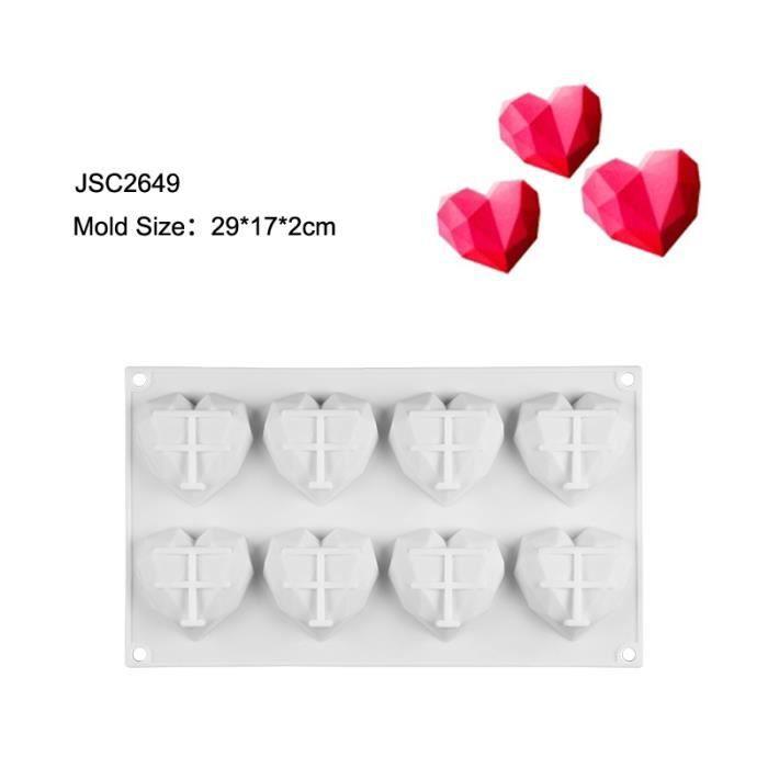 SJ moule à gâteau en Mousse Silicone Moule en Silicone dentelle cœur ustensiles de cuisson moule 3D artisanat - Type JSC2649