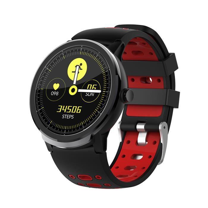 Red Nouveau NORTH EDGE N21 montre intelligente Bluetooth hommes pression artérielle ronde Smartwatch femmes montre étanche IP67 Spor