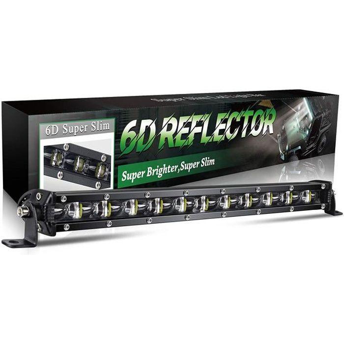 PHARES - FEUX - REPETITEUR LATERAL BraveWAY Barre LED 4x4 Fine 36cm 6D R&eacuteflecteur Slim Rampe Led Additionnelle Feux pou39