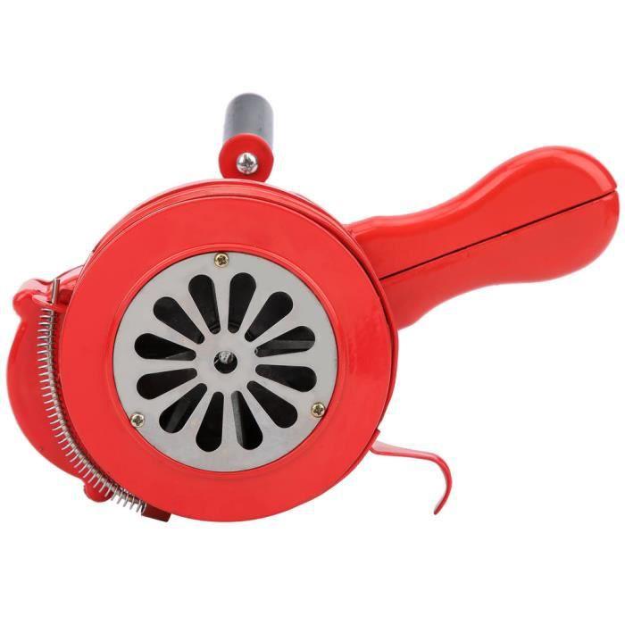 ARAMOX sirène portable Alarme manuelle portative rouge de sirène de manivelle pour les troupes d'écoles alarmant 120DB