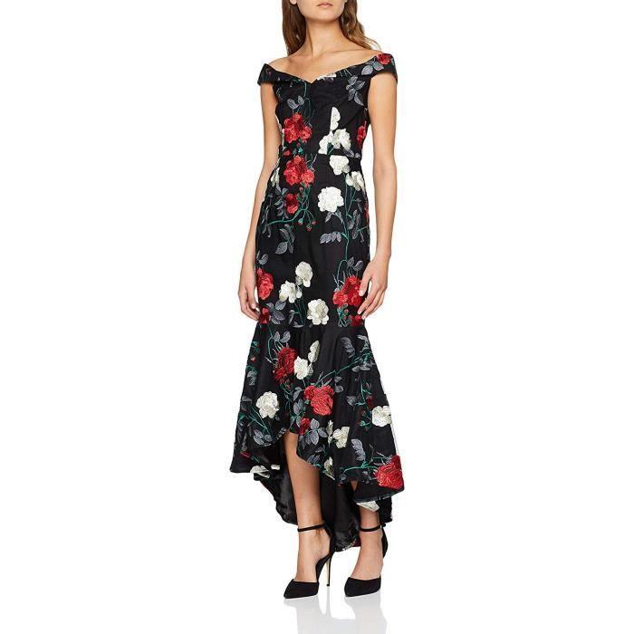 Chi Chi London Osariah Robe de soirée, Noir (Black Blk), 38 (Taille Fabricant: 10) Femme - 70124-BLK