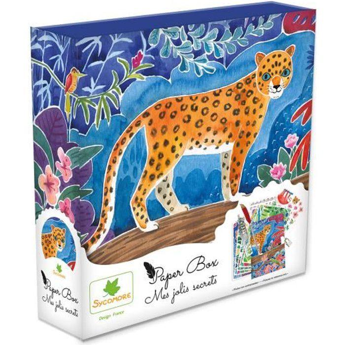SYCOMORE - Paper Box - Kit de papeterie pour enfants - Mes jolies secrets - Jungle - Petit Modèle - Dès 7 ans