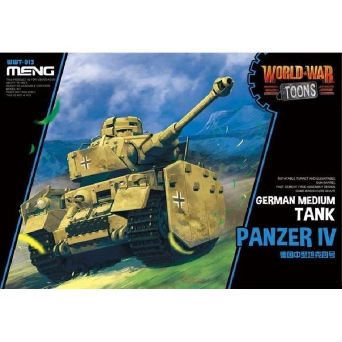 Maquette Char World War Toons German Medium Tank Panzer Iv - MENG