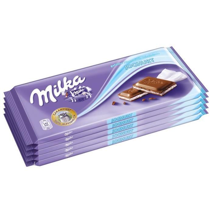 Milka Joghurt, Chocolat, crème de yaourt, 5 pièces de 100 gr