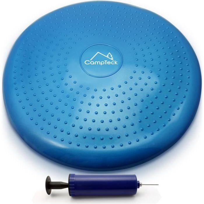 U6765 Coussin Équilibre avec Pompe Coussin Fitness Gym Assise Yoga Aérobic 32cm Bleu