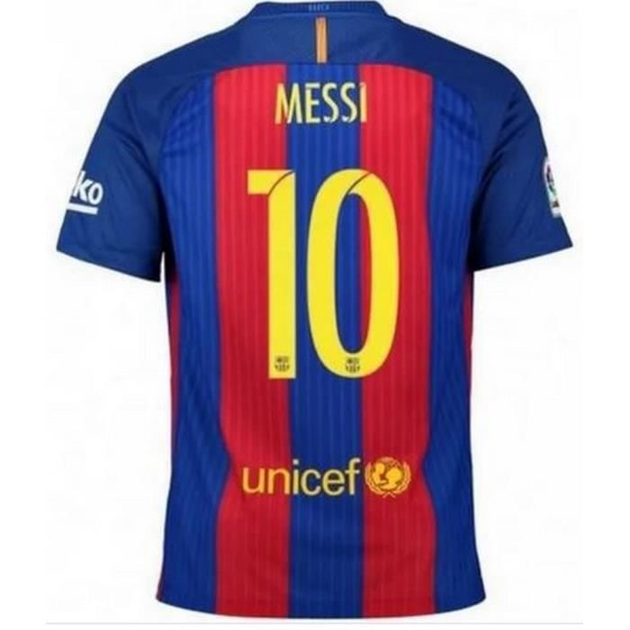 Maillot Homme Nike Fc Barcelone Home Saison 2016-2017 Flocage Officiel Messi numéro 10