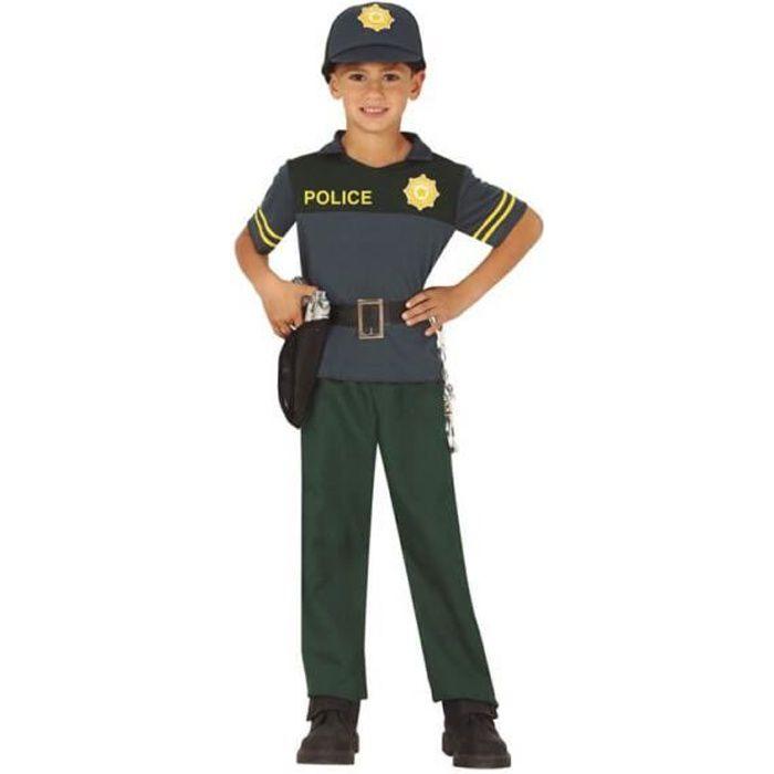 Déguisement de police verte pour enfants