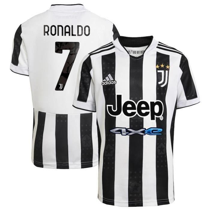 Nouveau Maillot Juventuss 2021 2022 Maillot de Foot 7 Cristiano Ronaldo Juves Pas Cher pour Homme
