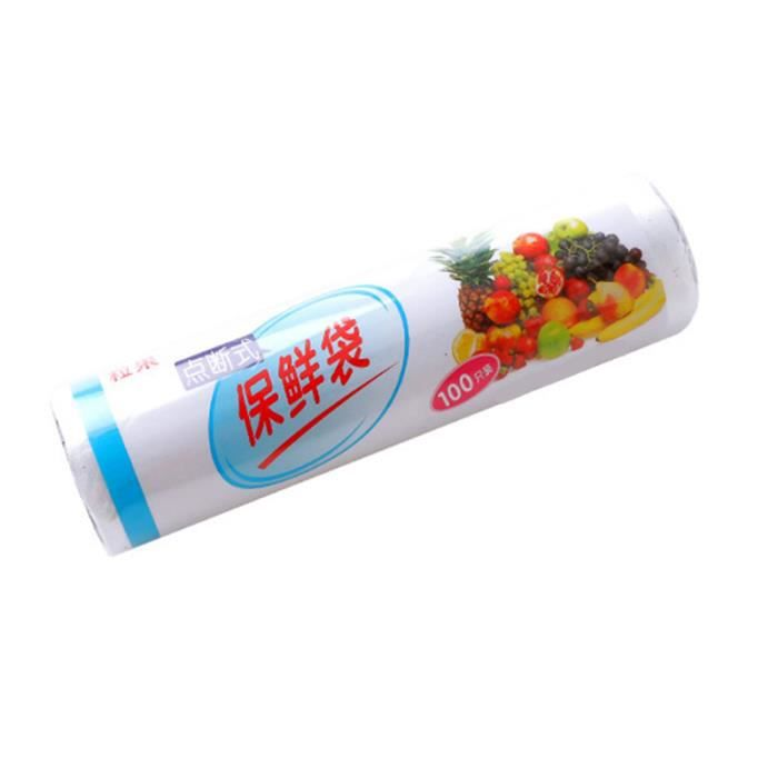 100 Pcs/Roll Vacuum Sealer Roll Food Grade Bag Thicken Vegetable Storage Bags for Saver (30X20CM)