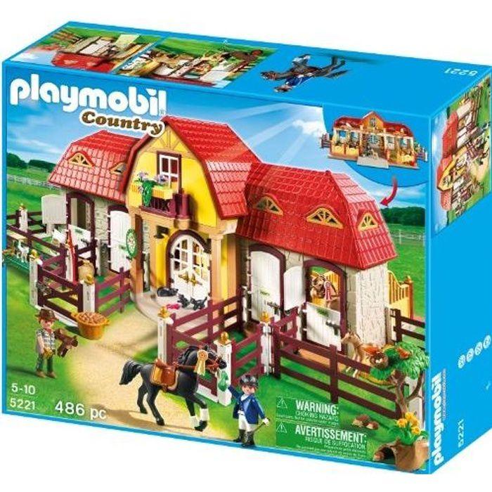 PLAYMOBIL - 5221 - JEU DE CONSTRUCTION - HARAS …
