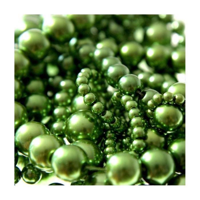 Perles nacrées 16 mm en verre de bohême couleurs vives lot de 10 Kaki