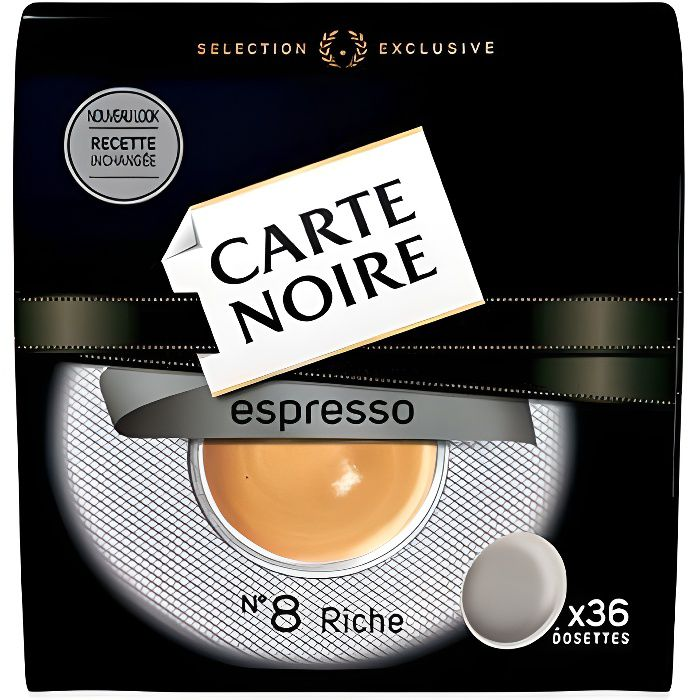 CARTE NOIRE Dosettes Espresso N°8 x36 - 250 g