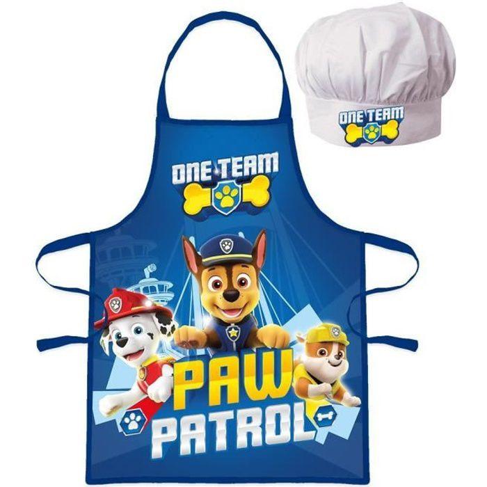 Ensemble Tablier + Toque cuisine -Pat Patrouille- pour enfant