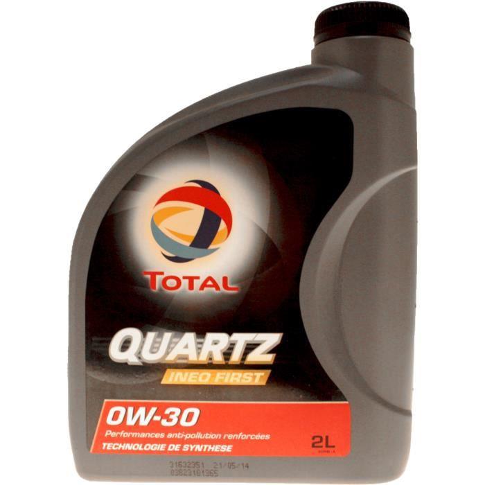 Bidon 2 litres huile Total Quartz INEO First 0W30 spéciale PSA 213831