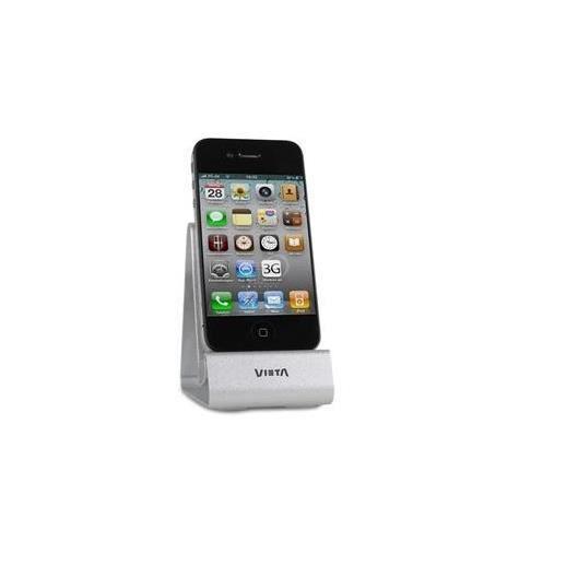 VIETA - Station d'accueil VH-ID040SL, station d'accueil pour iPod / iPhone, 7 broches, clé USB argentée