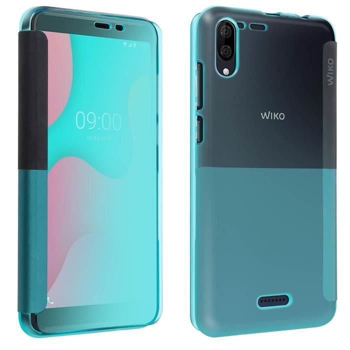 Housse Wiko Y60 Étui Clapet Protection intégrale Original Wiko Vert
