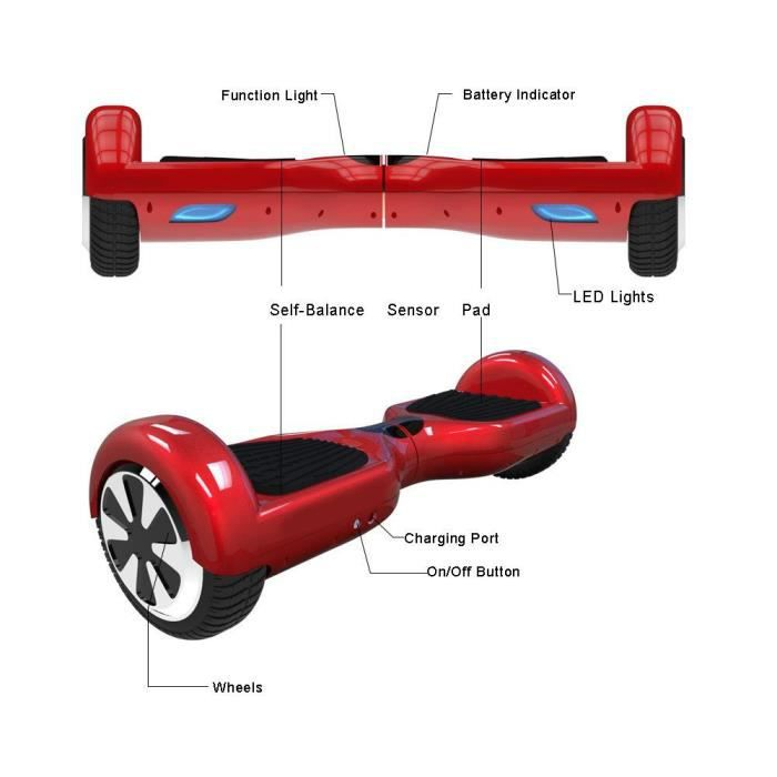 mini scooter skateboard equilibr smart electrique 6 5. Black Bedroom Furniture Sets. Home Design Ideas