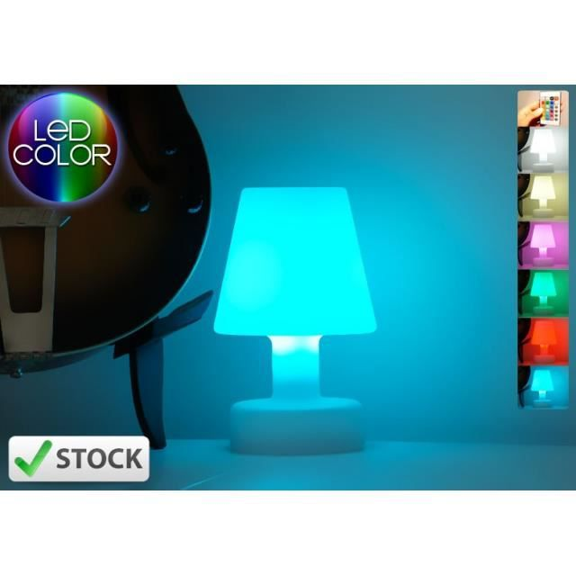 lampe poser led multicolore aba s achat vente. Black Bedroom Furniture Sets. Home Design Ideas
