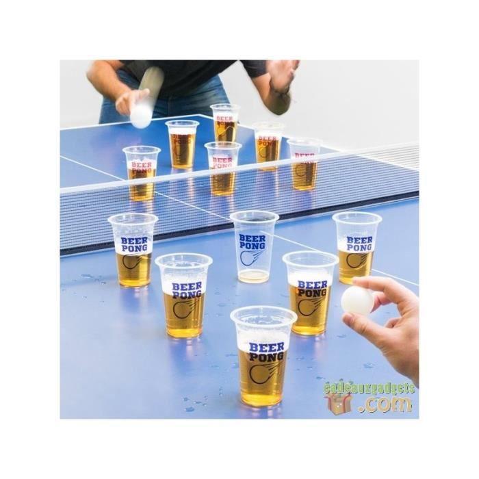 FARCE ET ATTRAPE Jeu à boire de bière-pong : le ping-pong pour adul