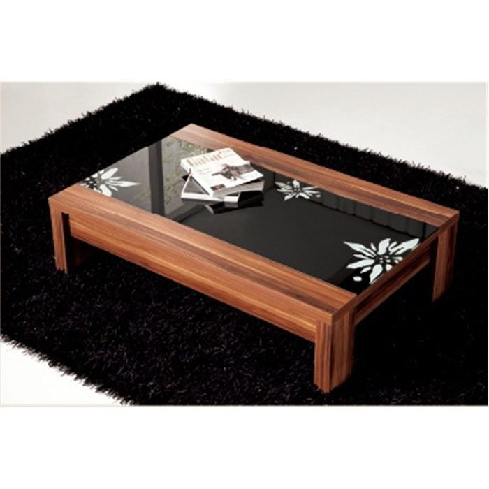 Table de salon design laquee noir alicia achat vente table basse table de - Table salon cdiscount ...
