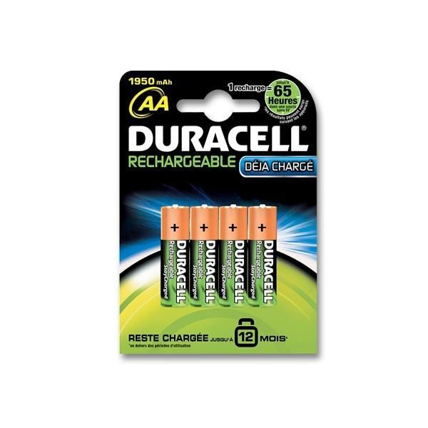 duracell pile rechargeable aax4 lr6 achat vente piles cdiscount. Black Bedroom Furniture Sets. Home Design Ideas