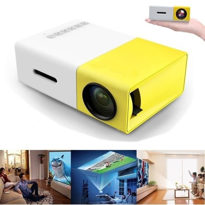 yg300 full hd 1080p mini portable vid o projecteur accueil multim dia cin ma th tre jaune. Black Bedroom Furniture Sets. Home Design Ideas