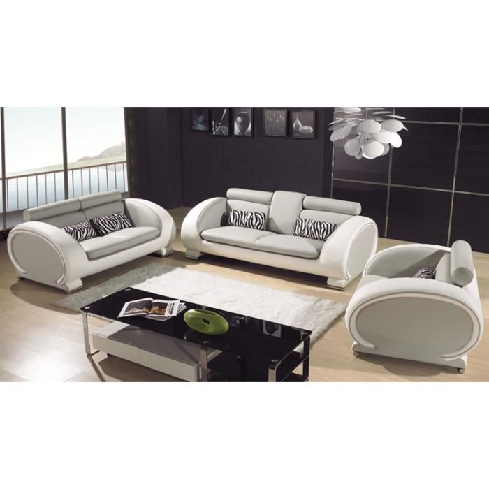 salon cuir design complet canap 3 2 fauteuil okyo achat vente ensemble canapes cdiscount. Black Bedroom Furniture Sets. Home Design Ideas