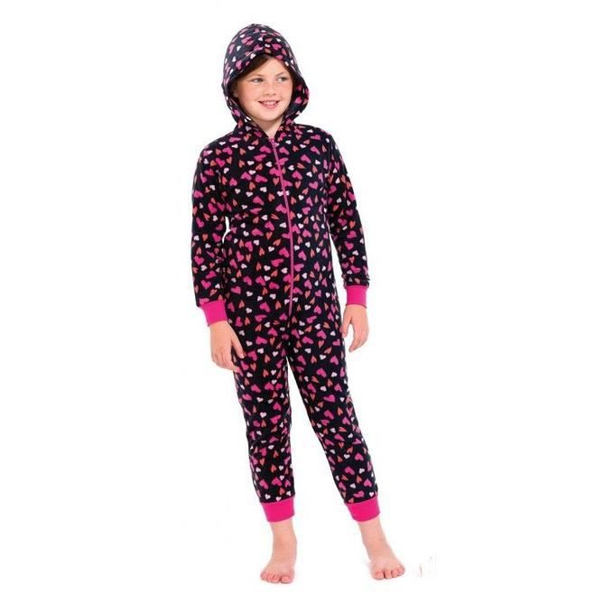 grenouill re enfant fille polaire pyjama noir achat. Black Bedroom Furniture Sets. Home Design Ideas