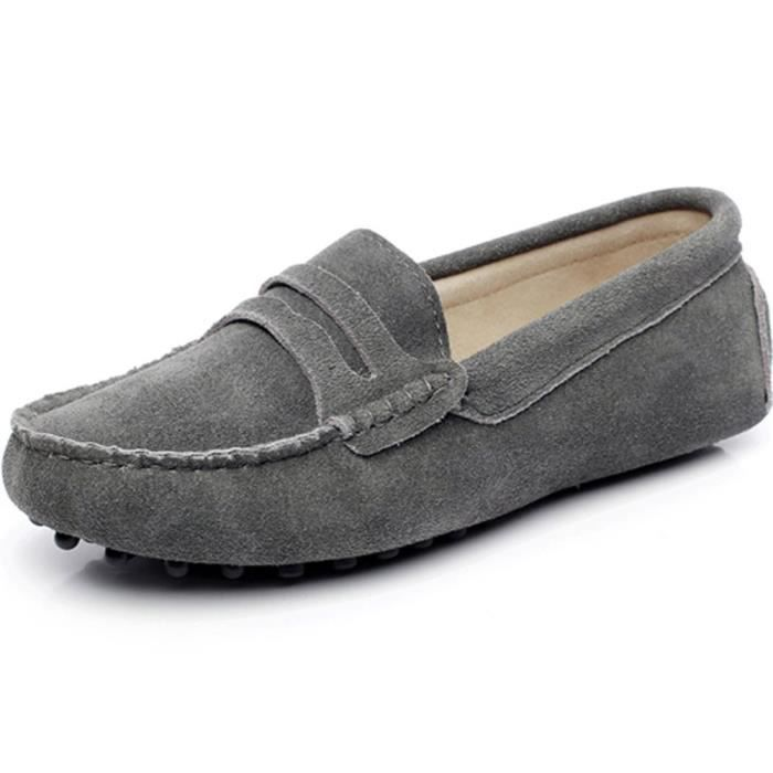 Classic Suede Driving Loafers Shoes Soft Leather Moccasin Slippers VA7WG Taille-38 sq5RQq