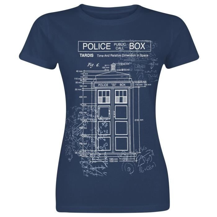 T-SHIRT Doctor Who Blueprint Tardis T-Shirt Manches courte