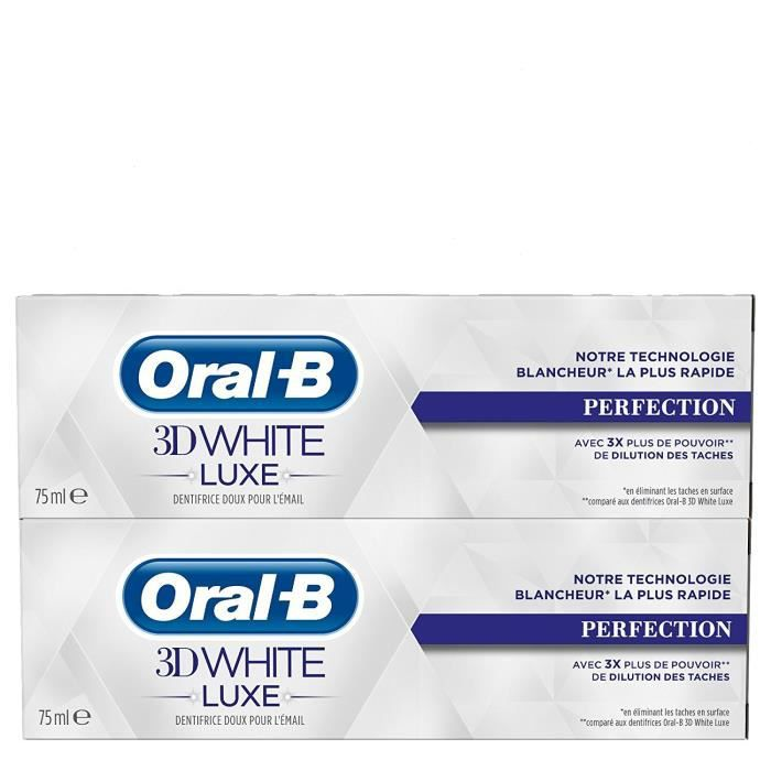 DENTIFRICE Oral-B - Dentifrice 3D White Luxe perfection - 75m