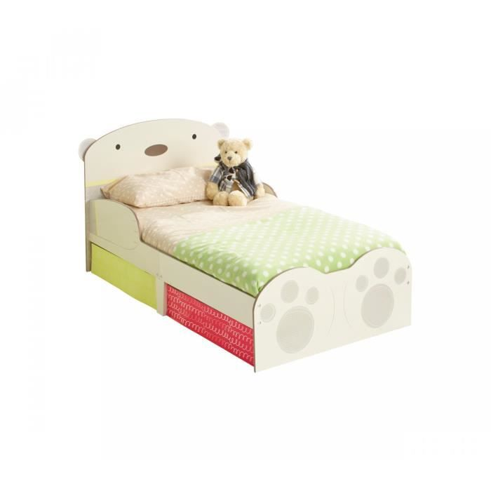 ensemble lit enfant ours c lin avec tiroirs matelas 70x140. Black Bedroom Furniture Sets. Home Design Ideas