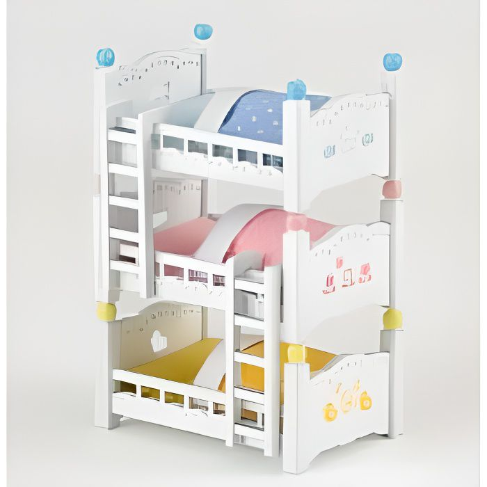 sylvanian lits superposes 3 couchettes bebes achat. Black Bedroom Furniture Sets. Home Design Ideas