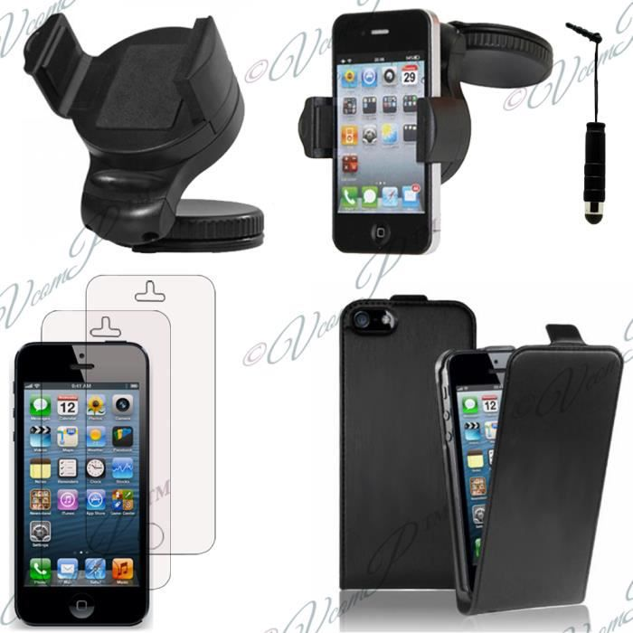 lot 5 accessoires pu vrai apple iphone 5 5s achat. Black Bedroom Furniture Sets. Home Design Ideas
