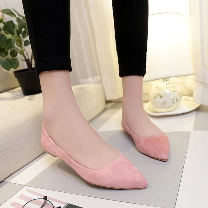Top Party Fashion on Reservece Shoes Femmes Slip Girl Casual Shallow Rose Flat Pointed Bwqfg