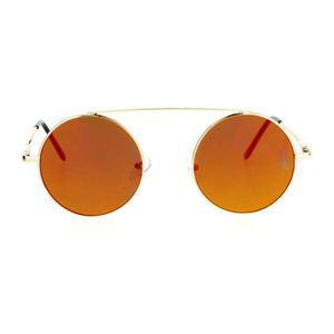 Womens Fonde Forme Coeur M/étal Cercle Hippie Lunettes De Soleil Emblem Eyewear