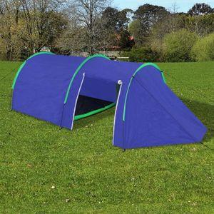 TENTE DE CAMPING Tente de camping imperméable 4 Personnes Bleu mari