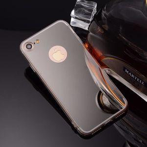 COQUE - BUMPER Coque pour iphone 7 miroir argent