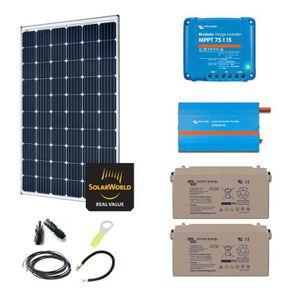 KIT PHOTOVOLTAIQUE Kit solaire 300w autonome + convertisseur 230v/375