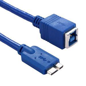 CÂBLE INFORMATIQUE Câble Adaptateur USB 3.0 B Femelle à Micro B Conne