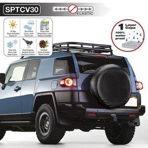 Housse de roue de secours noire pour auto voiture 4x4 caravane camping car utilitaire pour taille 215//65R16
