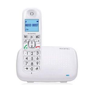 Téléphone fixe Téléphone fixe sans fil Alcatel XL385 Blanc