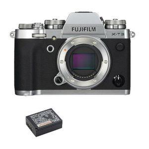 APPAREIL PHOTO RÉFLEX FUJI X-T3 Body Silver + NP-W126S Battery