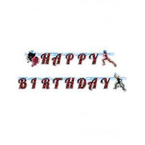 BANDEROLE - BANNIÈRE Guirlande en carton Happy Birthday Ladybug 15 cm x