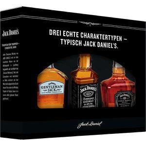 WHISKY BOURBON SCOTCH Jack Daniels Family Miniatures Tasting Box Gift Se